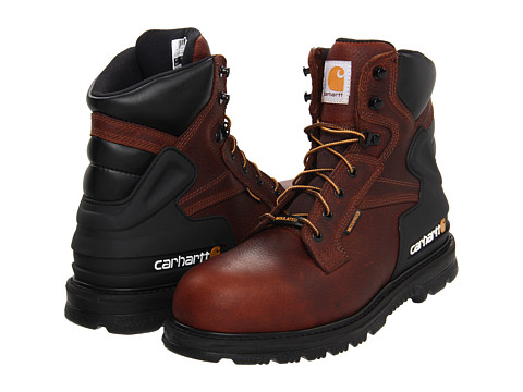Carhartt - CMW6239 6 Insulated Safety Toe Boot (Pebbled Brown) Men's Work Lace-up Boots