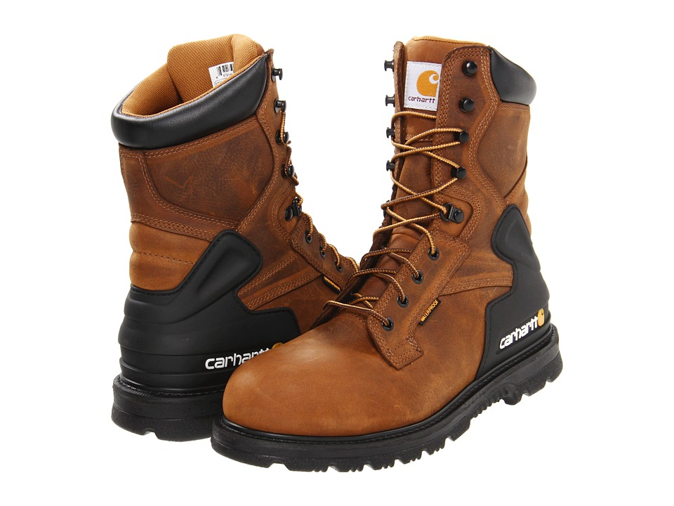 Carhartt - CMW8200 8 Safety Toe Boot (Bison Brown) Men's Work Lace-up Boots