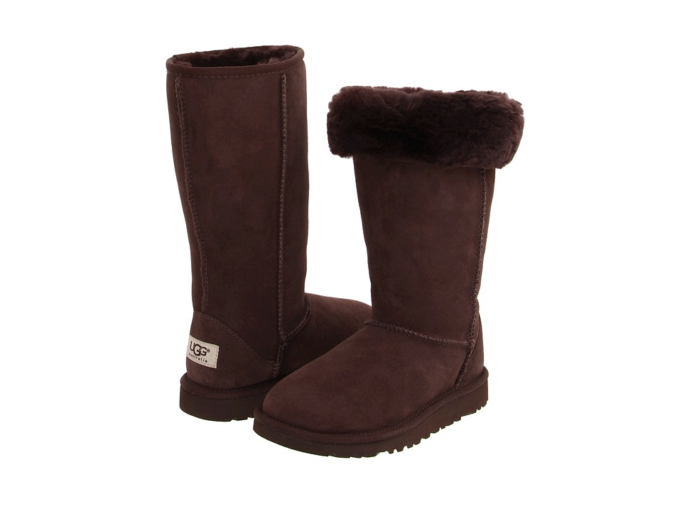 UGG Kids - Classic Tall (Big Kid) (Chocolate) Girls Shoes