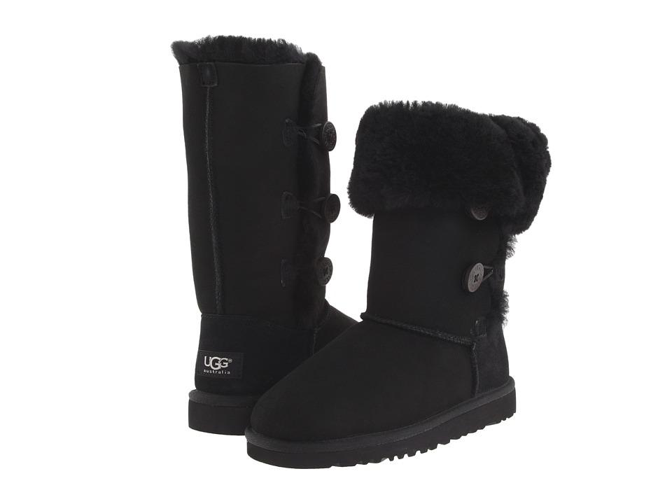 UGG Kids - Bailey Button Triplet (Big Kid 2) (Black) Girls Shoes