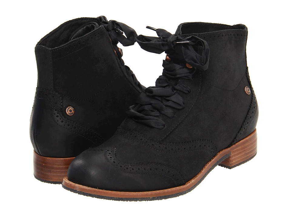 Sebago - Claremont Boot (Black) Women's Lace-up Boots