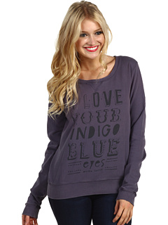 SALE! $36.99 - Save $64 on Maison Scotch I Love Your Blue Eyes Sweatshirt (Blue) Apparel - 63.38% OFF $101.00