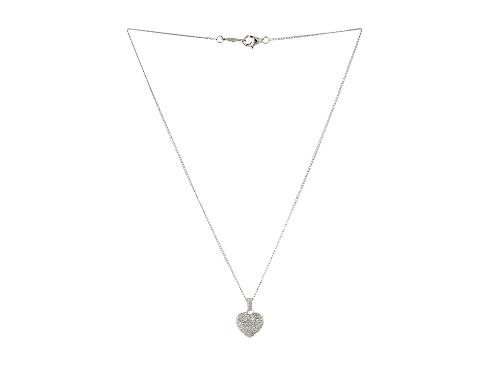 Judith Jack - Reversible Heart Pendant (Silver) Necklace