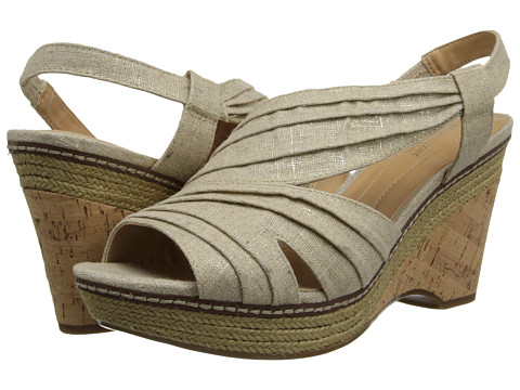 Naturalizer - Lulianna (Natural/Gold Linen) Women's Wedge Shoes