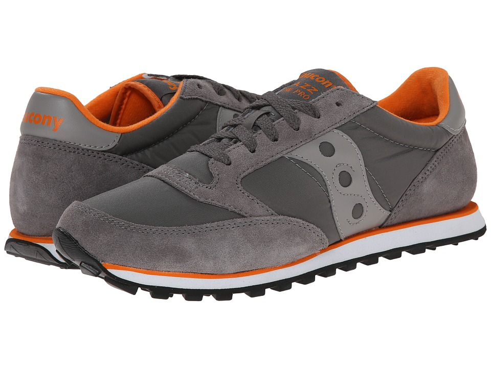 Saucony Originals - Jazz Low Pro (Charcoal/Orange) Men's Classic Shoes