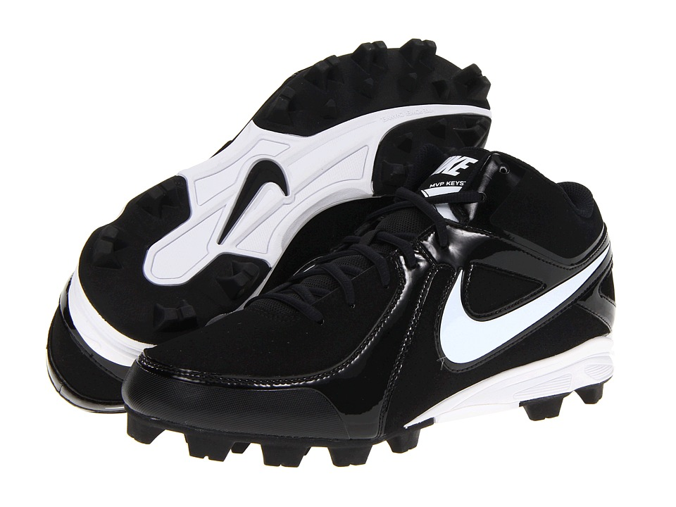 Nike - MVP Keystone 3/4 (Black/White) Men's Cleated Shoes