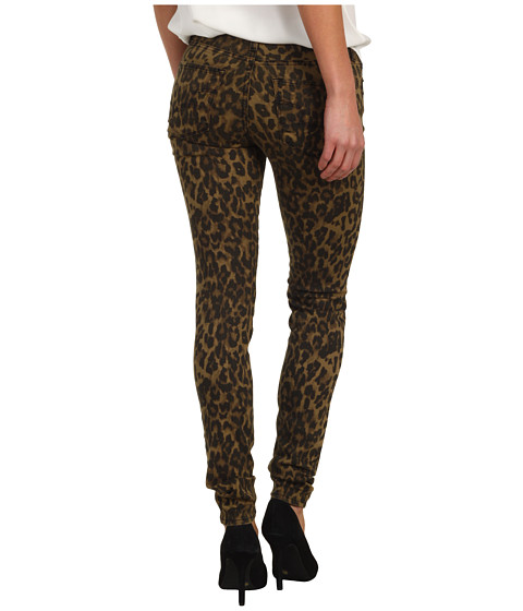 Big Star - Alex Mid Rise Skinny Jean in Leopard Print (Leopard) Women