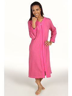 SALE! $58 - Save $0 on Karen Neuburger Cotton Club L S Long Zip Robe (Heather Cranberry) Apparel - 0.00% OFF $58.00