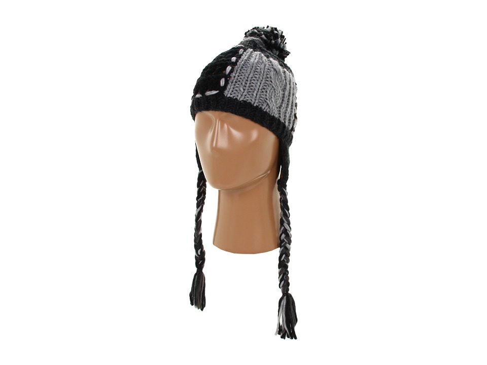 Roxy - Northern Lights Earflap Beanie (True Black) Beanies