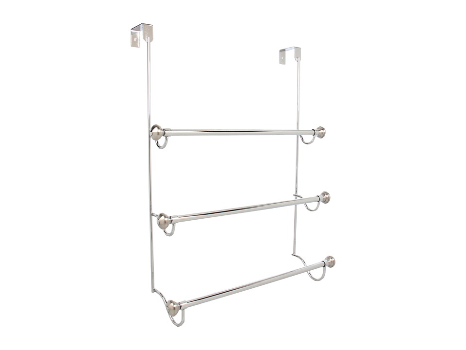 InterDesign - York Metal Over Shower Door 3 Bar Towel Rack (Split Finish) Bath Towels
