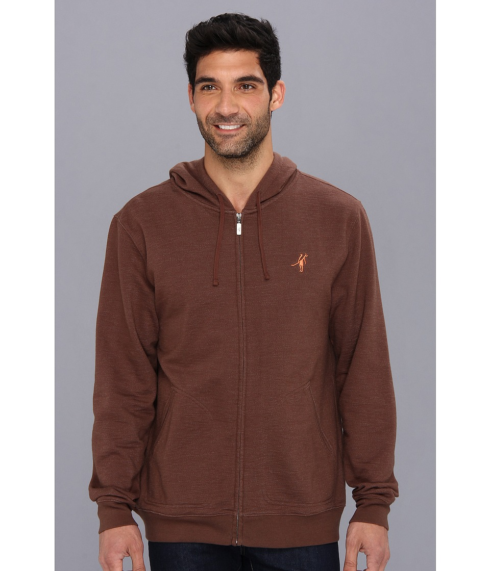 Toes on the Nose - Monogram Fleece (Brown) Men's Fleece