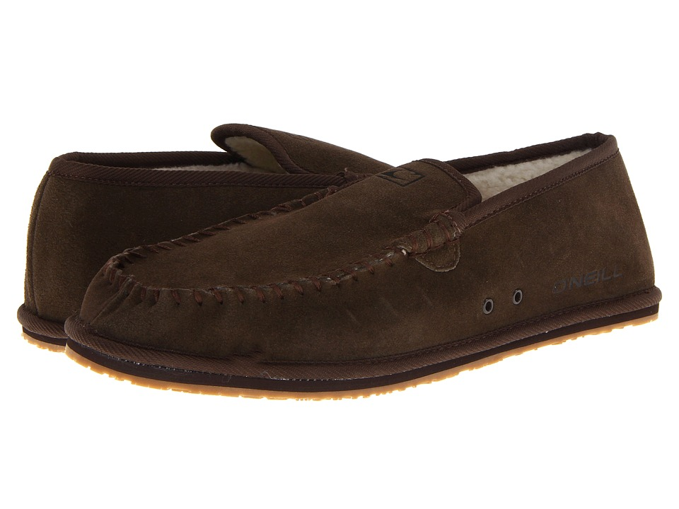 O'Neill - Surf Turkey Low Suede (Dark Chocolate) Men's Slippers