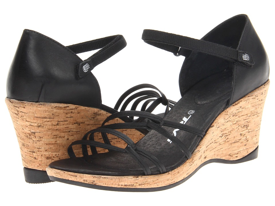 Teva - Riviera Wedge Strappy (Black) Women's Wedge Shoes
