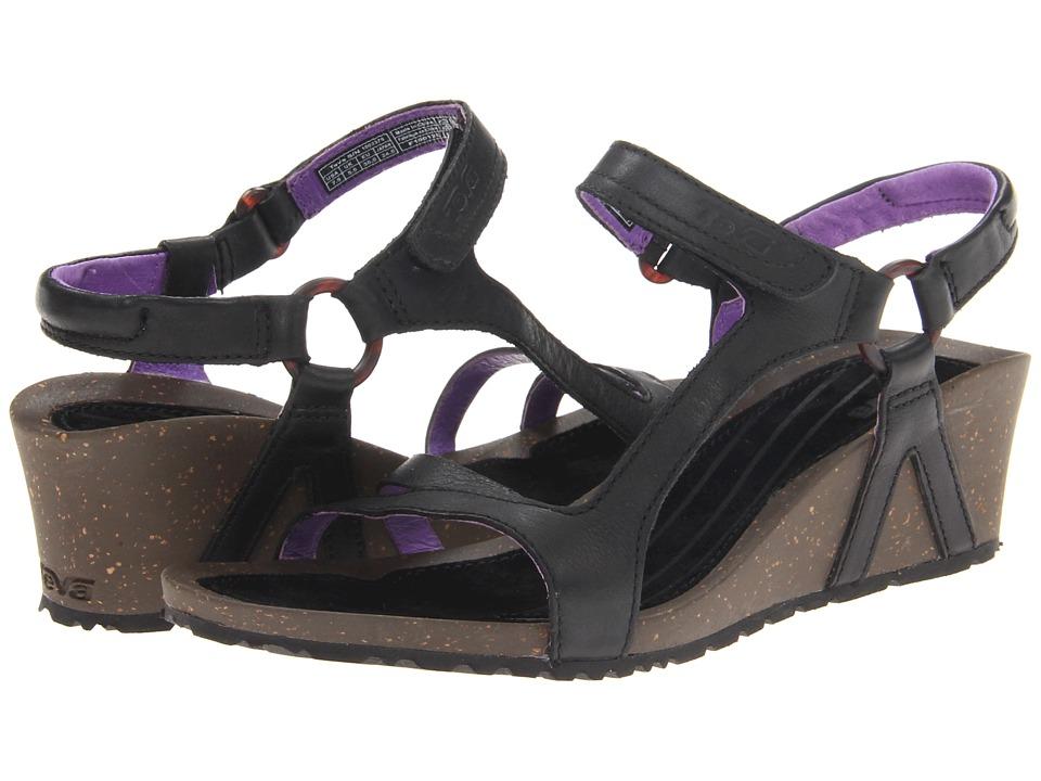 Teva - Cabrillo Universal Wedge Leather (Black/Purple) Women