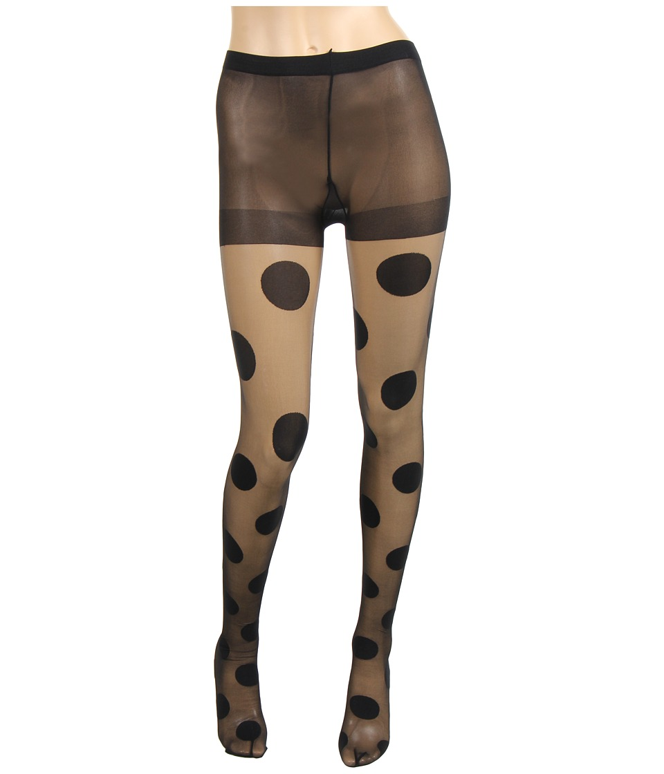 Kate Spade New York - Gigantic Swiss Dot Tights (Black) Hose