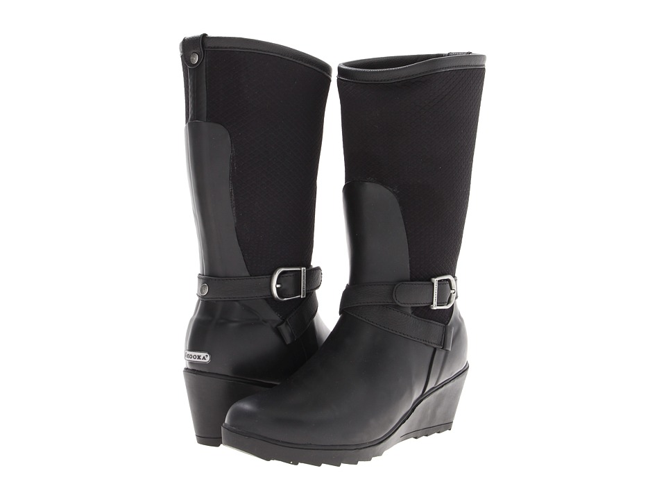 Chooka - Seville Wedge Rainboot (Black) Women's Rain Boots