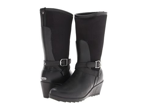 Chooka - Seville Wedge Rainboot (Black) Women's Rain Boots