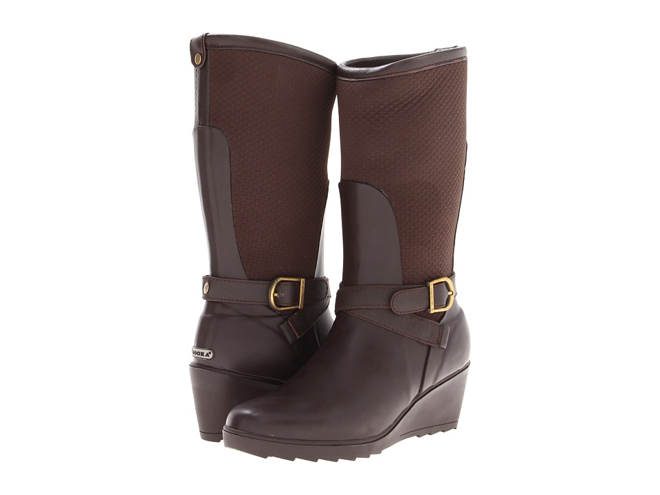 Chooka - Seville Wedge Rainboot (Brown) Women's Rain Boots