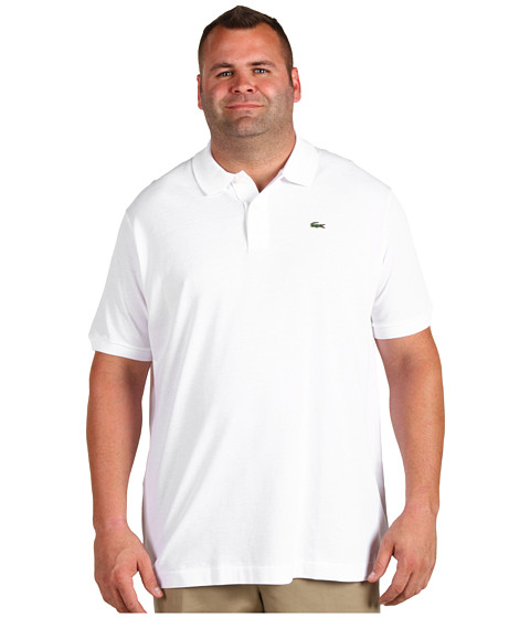 Lacoste - Big S/S Classic Pique Polo Shirt (White) Men
