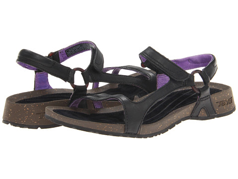 Teva - Cabrillo Universal Leather (Black/Purple) Women's Flat Shoes