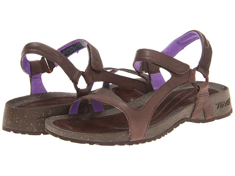 Teva - Cabrillo Universal Leather (Chocolate Brown/Purple) Women's Flat Shoes