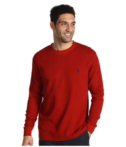 U.S. POLO ASSN. - Thermal Crew (Barn Red/Classic Navy) Men