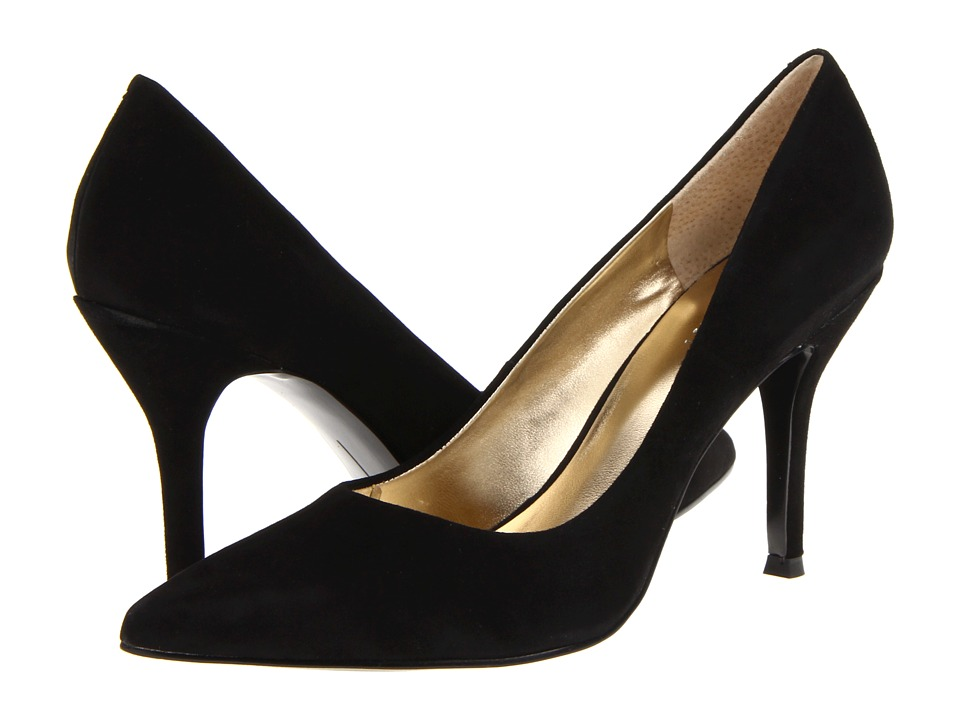 Nine West - Flax (Black Soho Suede) High Heels