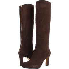 Nine West Number One (Dark Brown Suede) Footwear