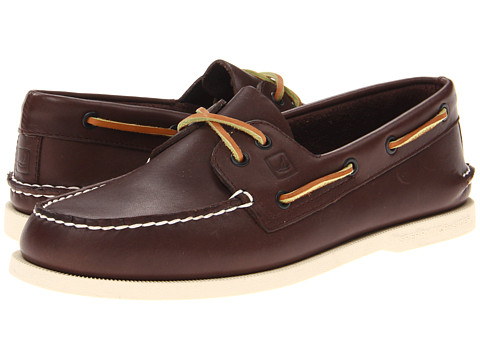 Sperry Top-Sider - A/O 2-Eye Burnished (Dark Brown/Tan) Men's Lace up casual Shoes