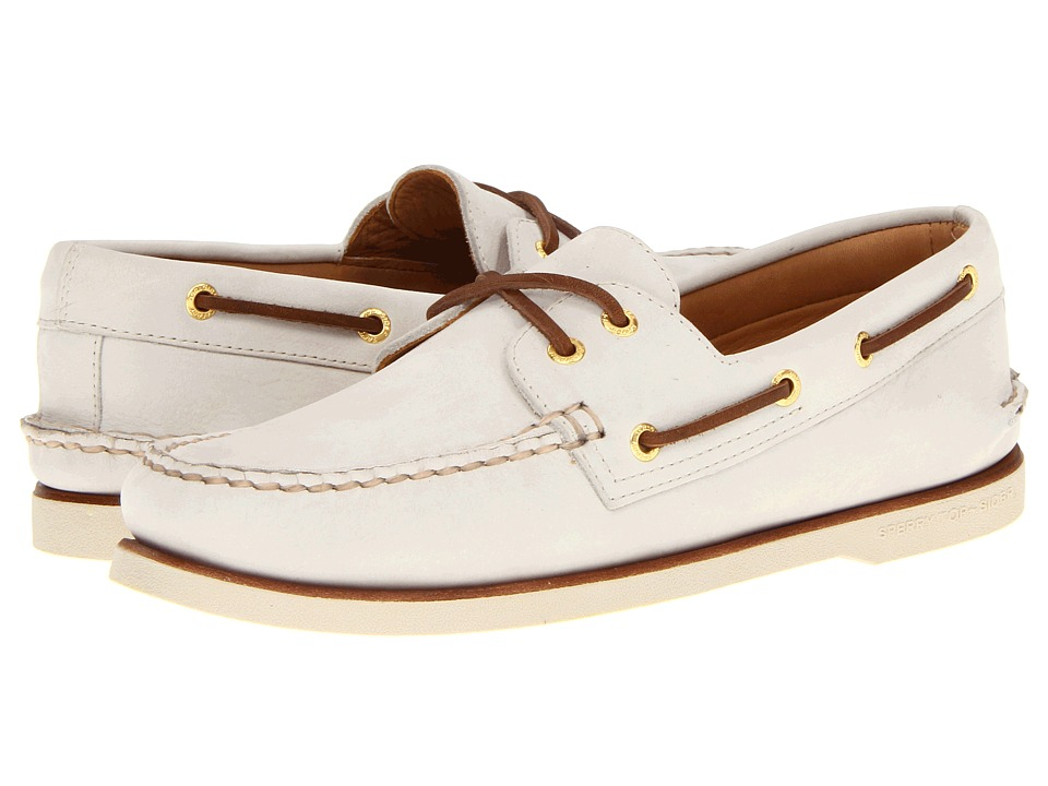 Sperry Top-Sider - Gold A/O 2-Eye (Ivory) Men's Slip on Shoes