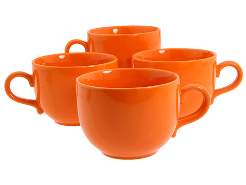 Waechtersbach - Set of 4 Jumbo Cups Fun Factory (Orange) Dinnerware Cookware