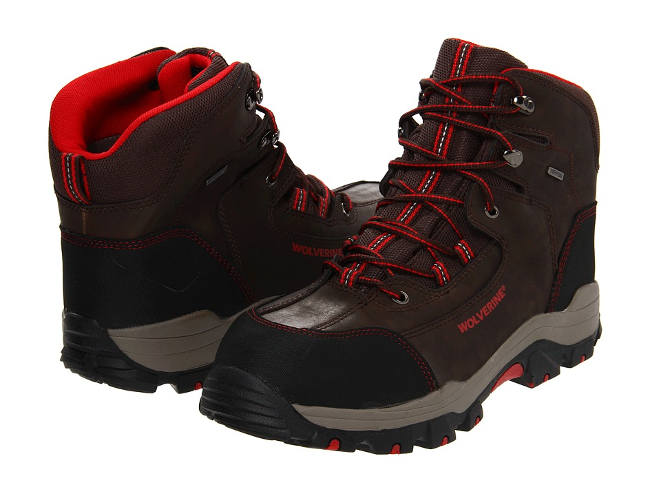 Wolverine - Bucklin - Wolverine Peakflex WP 6 Composite Toe Hiker (Brown) Men's Work Lace-up Boots