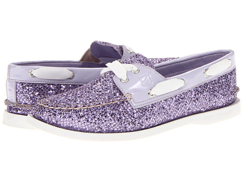 Sperry Top-Sider - A/O 2 Eye (Purple Glitter/Patent) Women's Lace up casual Shoes