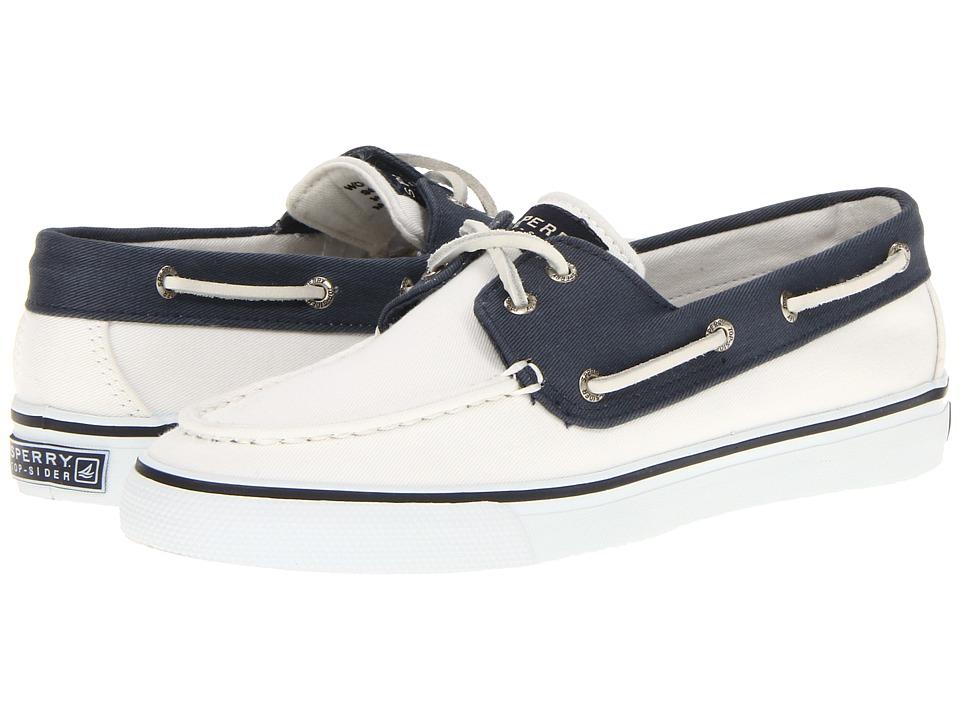 Sperry - Bahama 2-Eye (White/Navy 2) Women's Slip on Shoes