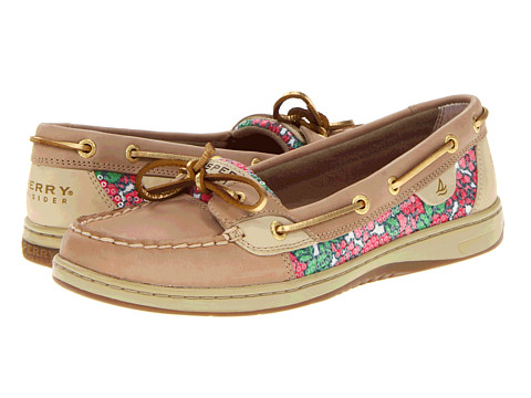 Sperry Top-Sider - Angelfish (Linen/Berry Floral (Sequins)) Women