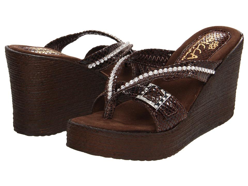 Sbicca - Horizon Snake (Brown) Women's Sandals