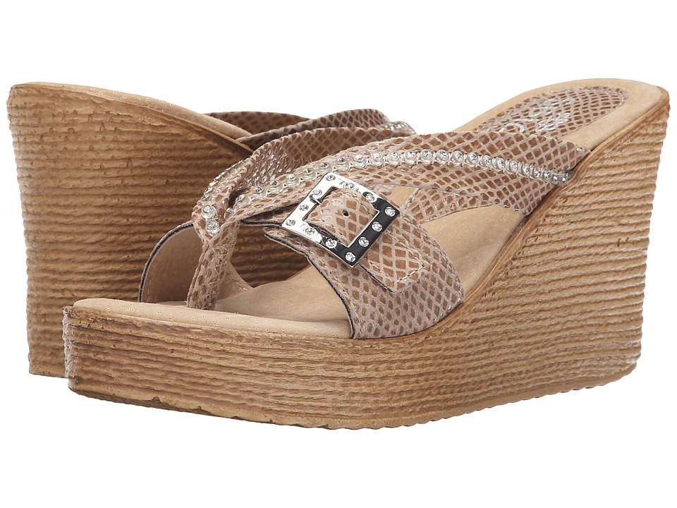 Sbicca - Horizon Snake (Taupe) Women's Sandals