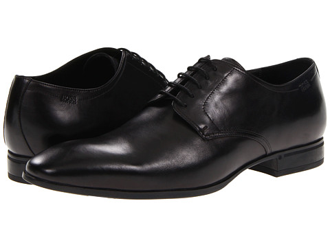 BOSS Black - Veros (Black) Men's Plain Toe Shoes