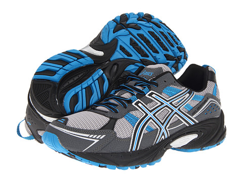 ASICS - GEL-Venture 4 (Charcoal/Carbon/Blue) Men's Running Shoes