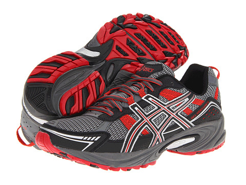 ASICS - GEL-Venture 4 (Charcoal/Black/Red) Men's Running Shoes