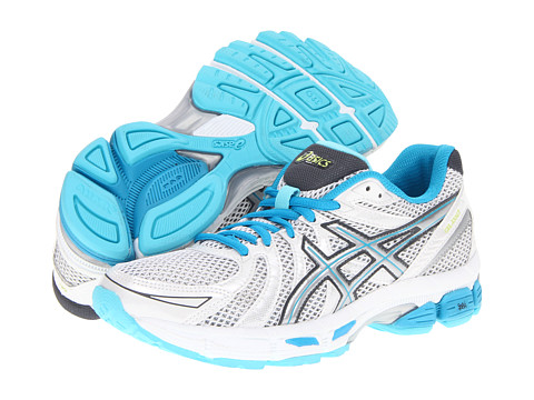 ASICS - GEL-Exalt (White/Lightning/Turquoise) Women