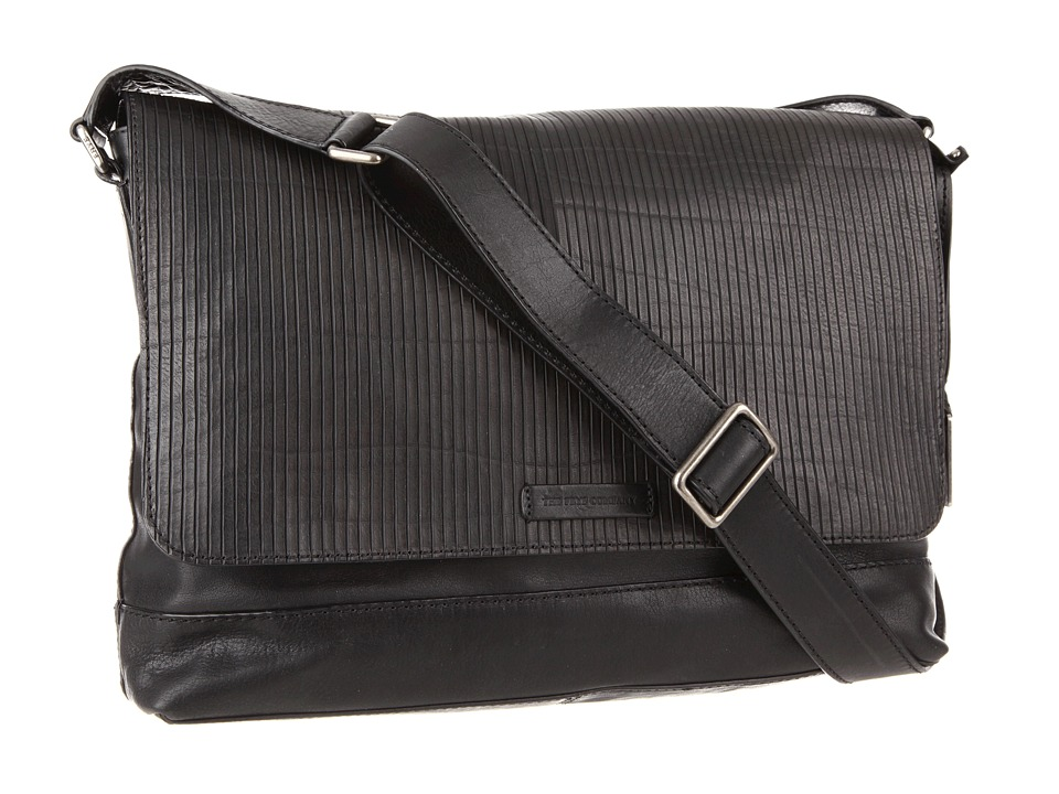 Frye - James Messenger (Black Veg Cut Leather) Messenger Bags