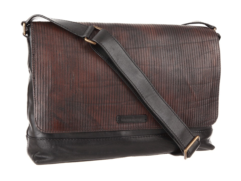 Frye - James Messenger (Dark Brown Veg Cut Leather) Messenger Bags
