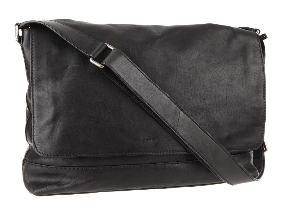 Frye - James Messenger (Black Tumbled Full Grain) Messenger Bags
