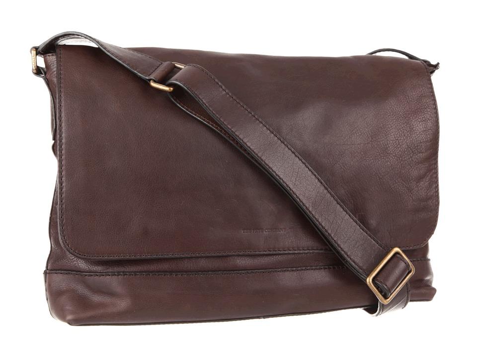 Frye - James Messenger (Dark Brown Tumbled Full Grain) Messenger Bags