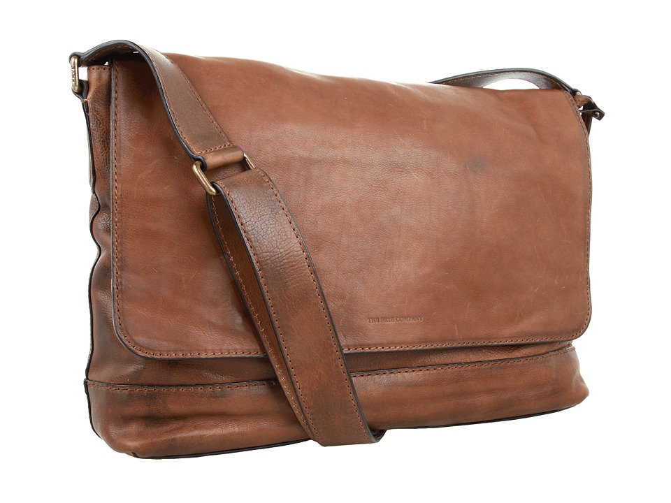 Frye - James Messenger (Taupe Tumbled Full Grain) Messenger Bags