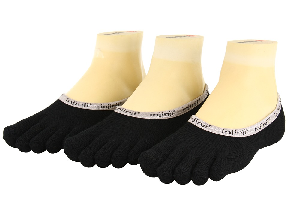 Injinji - Hidden 3-Pair Pack (Black) Low Cut Socks Shoes