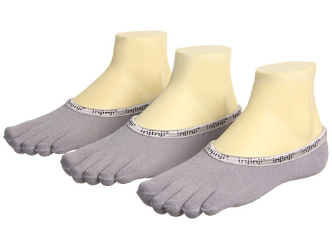 Injinji - PED 3-Pair Pack (Grey) Low Cut Socks Shoes