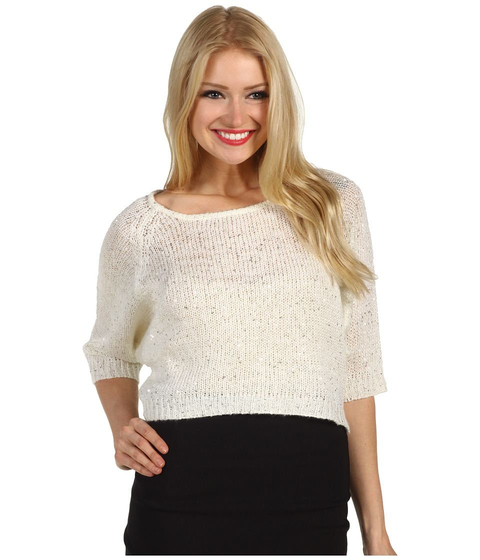 Brigitte Bailey - Valerie Sweater (Ivory/Silver) Women's Sweater