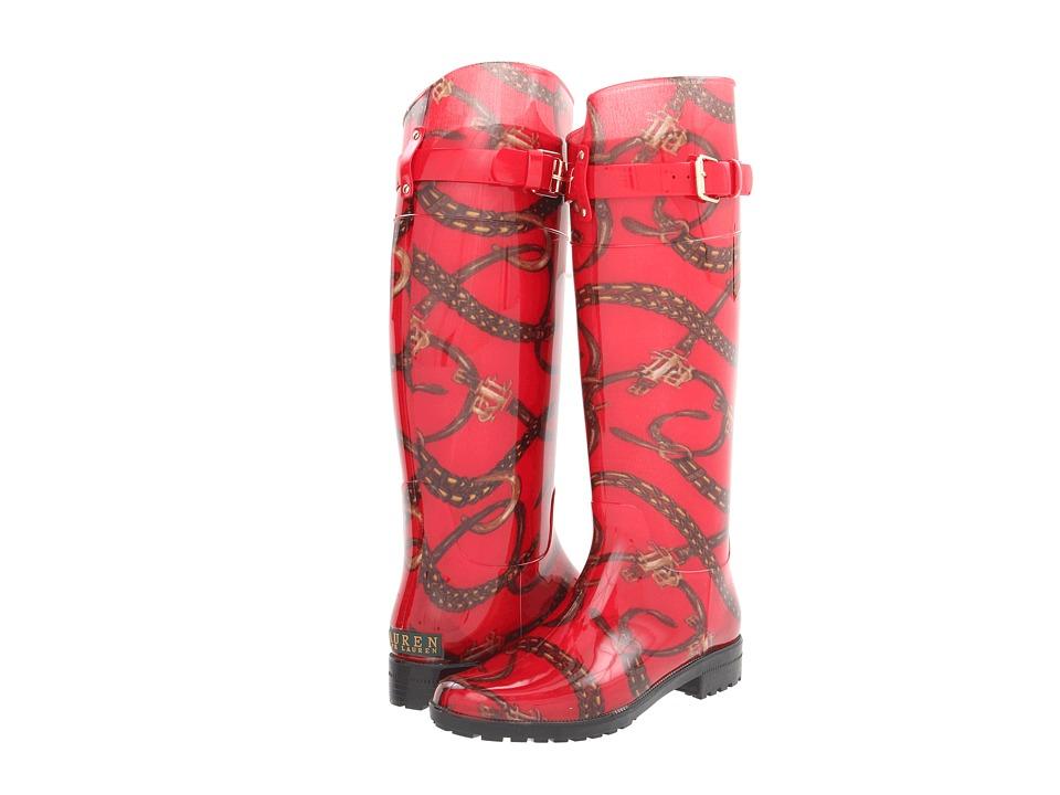 LAUREN Ralph Lauren - Rossalyn II (Red/Lauren Tan Bridle Print) Women's Rain Boots